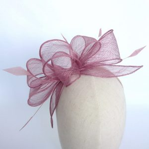Dewberry Loop Fascinator with Coque Feathers