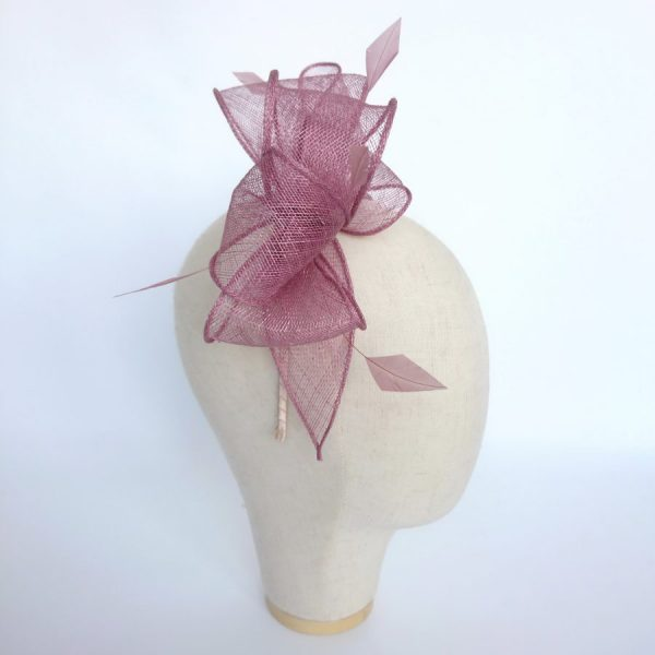 Handmade feather fascinator by Imogen's Imagination