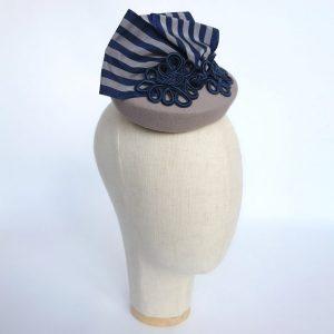 grey vintage inspired hat for a spring wedding