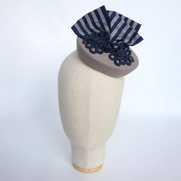 grey felt cocktail hat for an autumn wedding guest