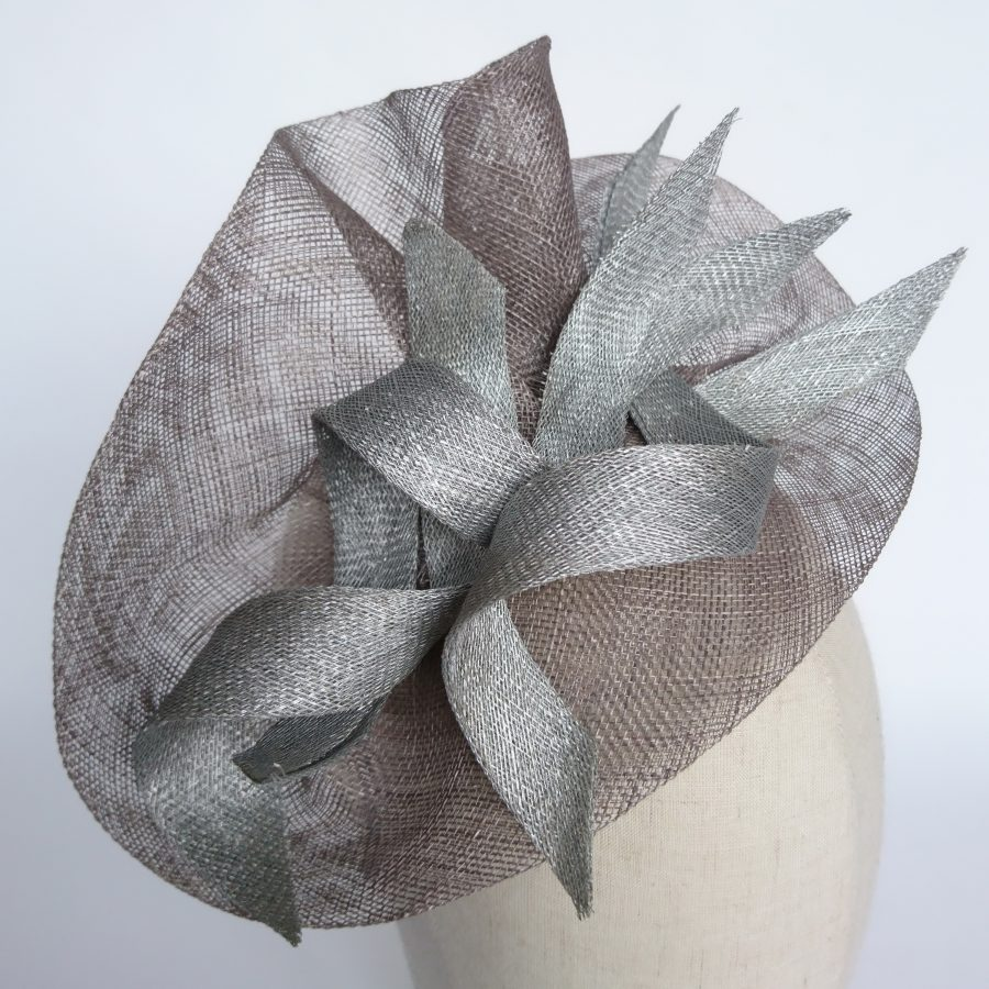 Bespoke Grey Fascinator by Imogen's Imagination