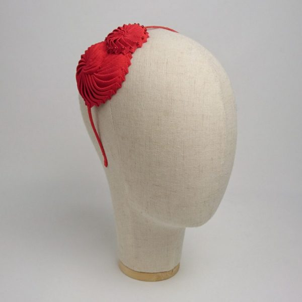 Red Nautilus Shell Headband