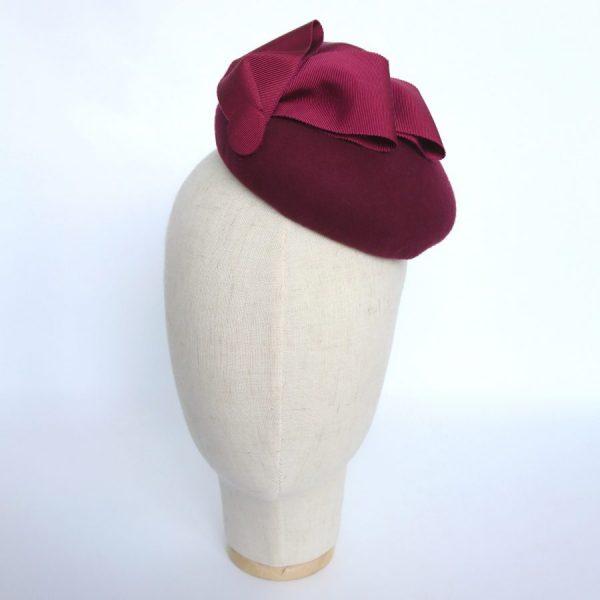 Autumn or winter race day hat in felt by Imogen's Imagination