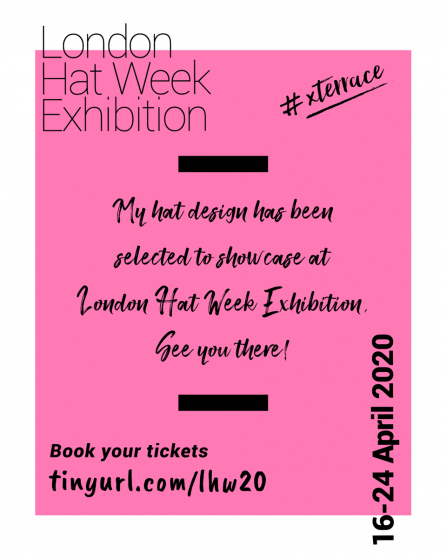 X Terrace London Hat Week Exhibition 2020 Selected Milliner Post3