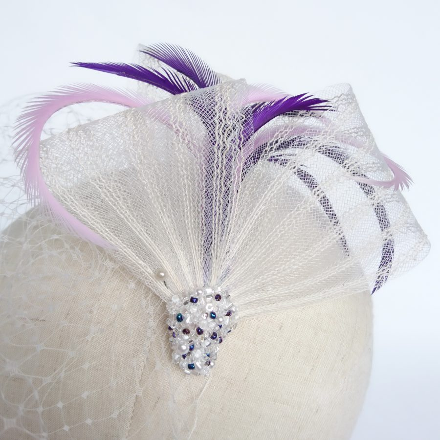 Bespoke Bridal Headpiece with Beading by Imogen's Imagination