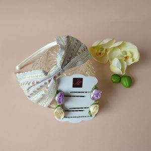 Floral Fringe Fixer Sets - Lilac Stripe
