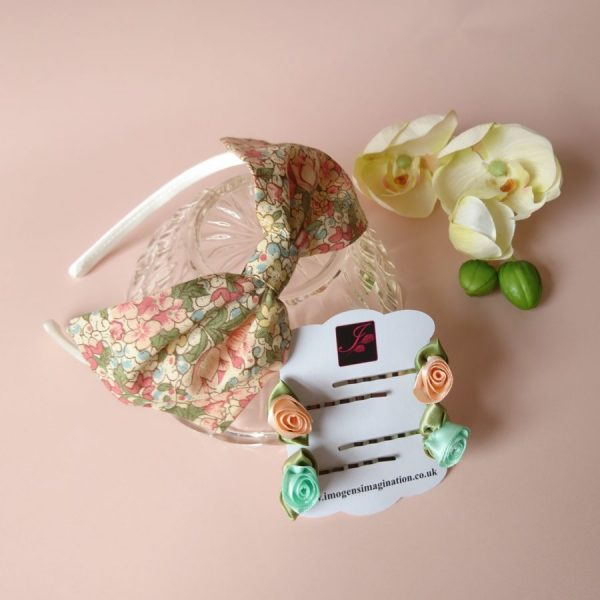 Floral Fringe Fixer Sets - Peach and Green