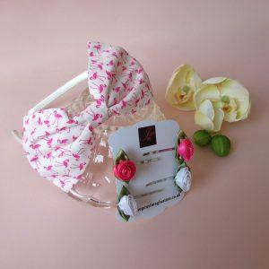 Pink Flamingo Headband Set