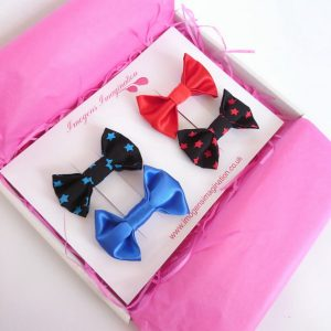 Star Bow Hair Clip Set