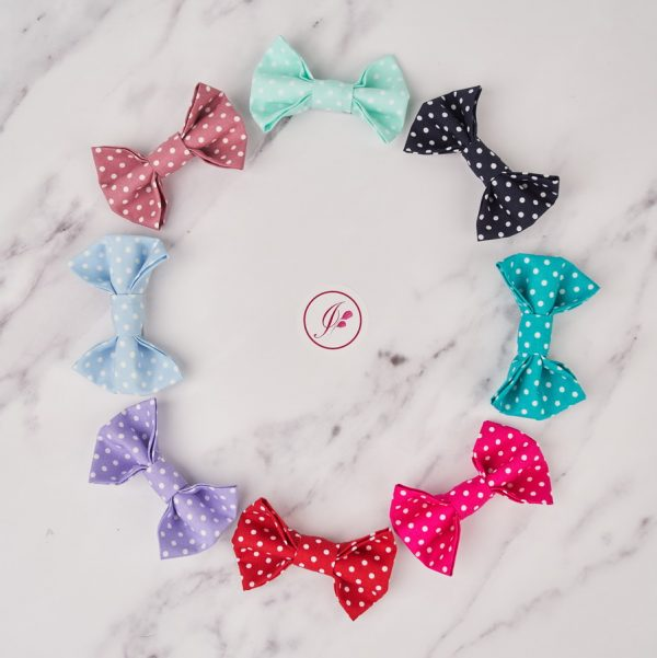 Polka Dot Bow Hair Clips in all colours