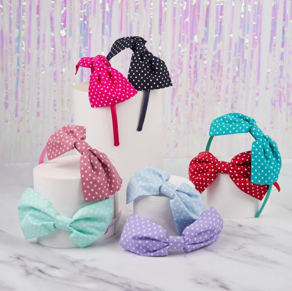 Polka Dot Bow Headbands in all colours