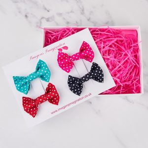 Bright Bow Hair Clip Gift Set