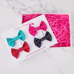Bright Bow Hair Clip Gift Set