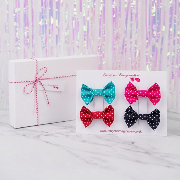 Bright Bow Hair Clip Gift Set with Gift Box