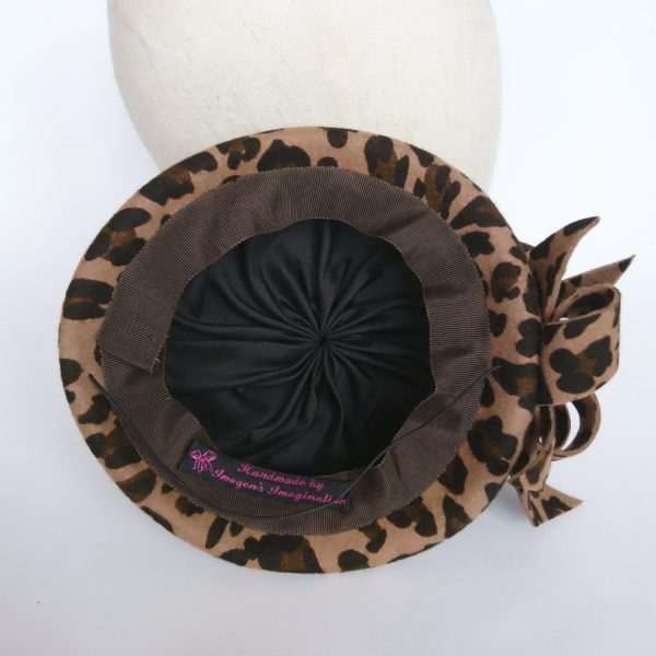 Lining of a Leopard hat by Imogen's Imagination