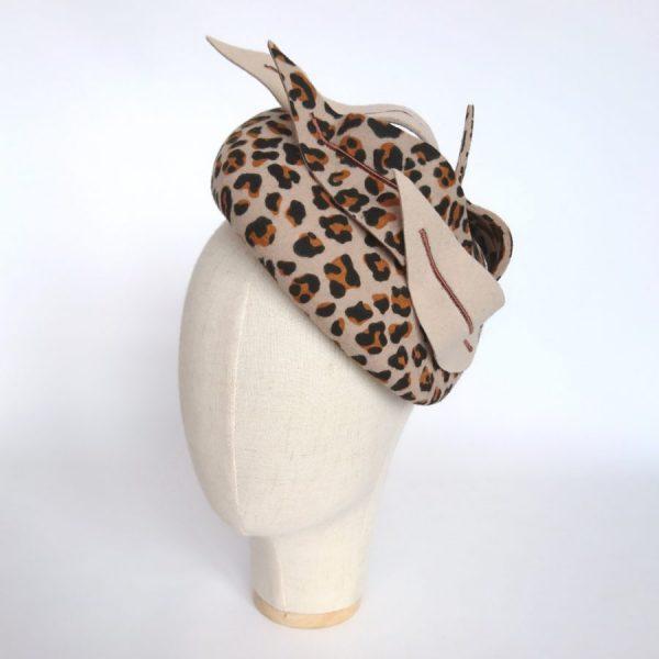 Leopard Felt Hat for a Winter Wedding
