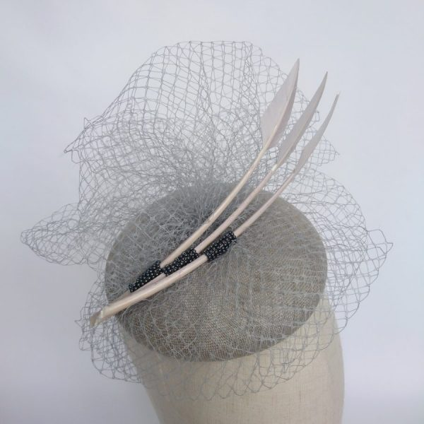 Grey summer race day hat