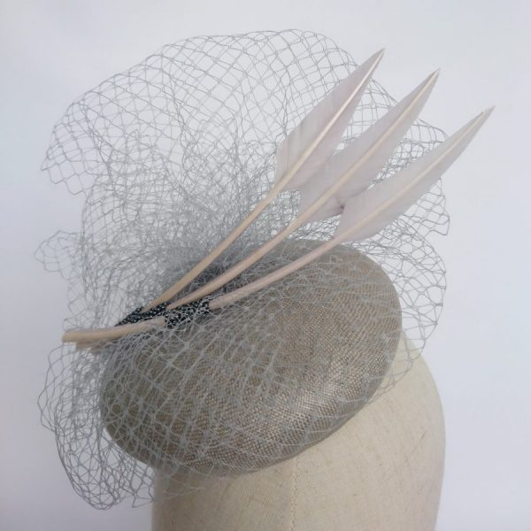 Grey spring wedding hat