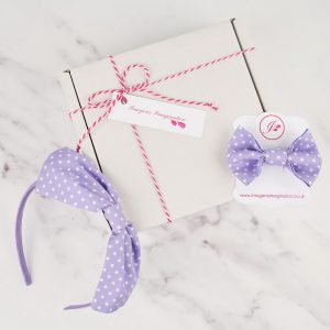 Lilac Headband and Hair Clip Gift Set