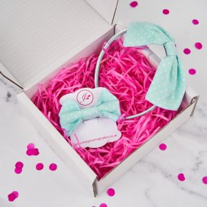 Mint Green Headband and Hair Clip Gift Set