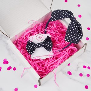 Navy Blue Headband and Hair Clip Gift Set
