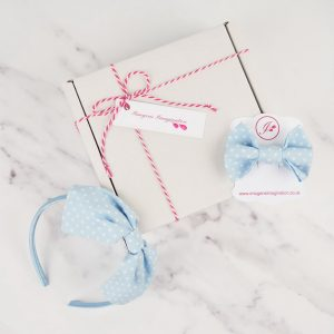 Pale Blue Headband and Hair Clip Gift Set