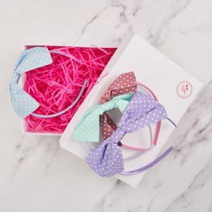 Pastel Bow Headband Gift Set