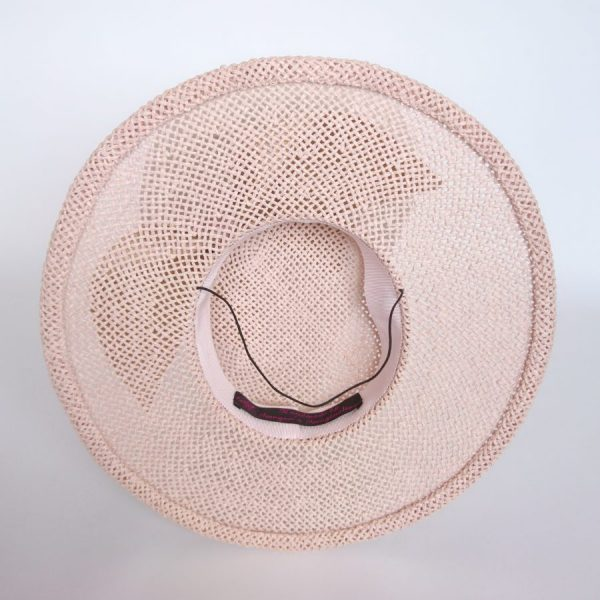 Inside a straw paper boater hat by Imogen's Imagination