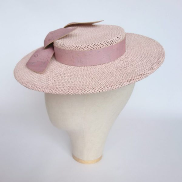 Pink Vegan Cork Leather Millinery