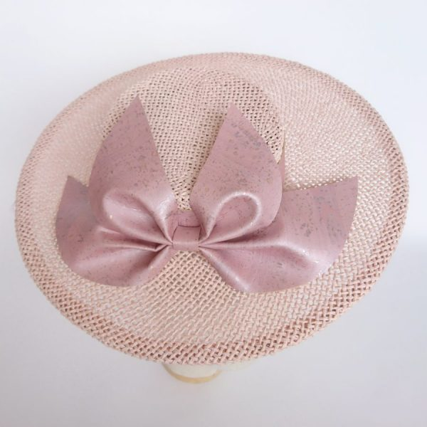 Pink wedding hat by Imogen's Imagination