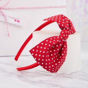 Red Polka Dot Bow Headband
