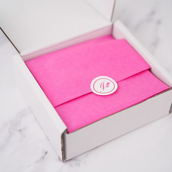 Opening a Square Gift Box with twine and labels from Imogen's Imagination
