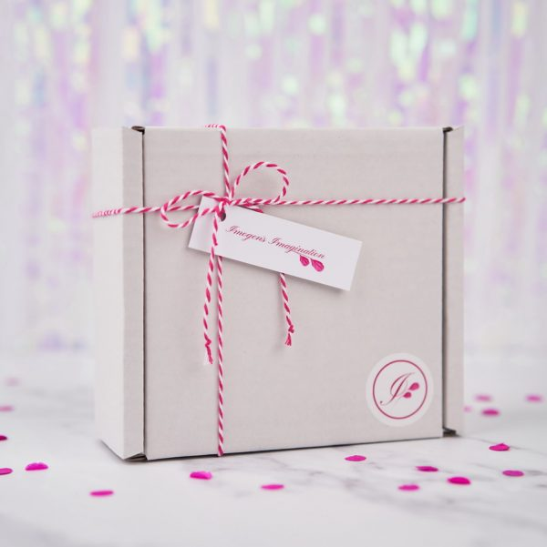 Square Gift Box with twine and labels from Imogen's Imagination