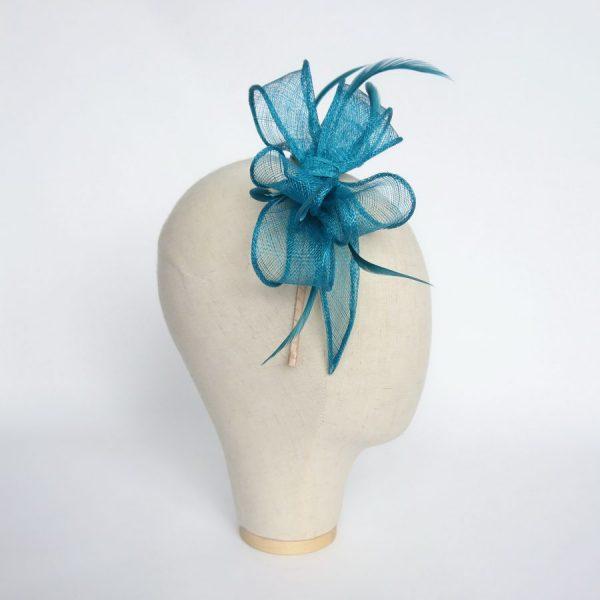 Turquoise Wedding Fascinator by Imogen's Imagination