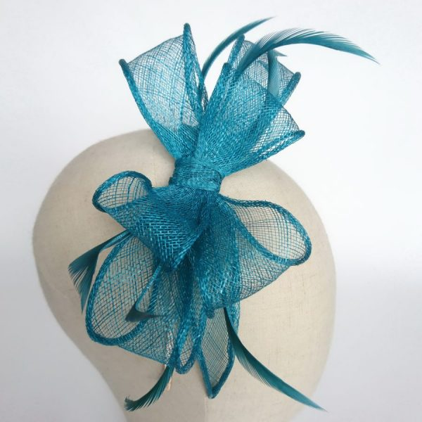 Turquoise Race Day Fascinator by Imogen's Imagination