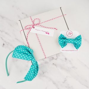 Turquoise Headband and Hair Clip Gift Set