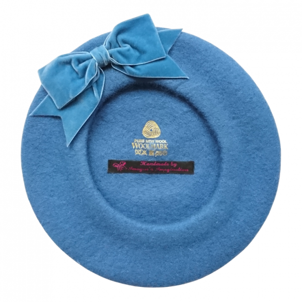 Airforce Blue Beret with Bow