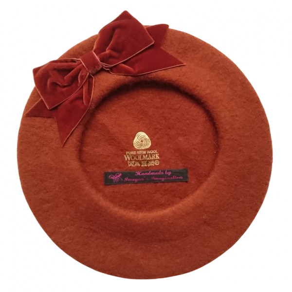 Russet Beret with Russet Bow