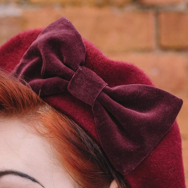 Autumn Winter Beret in Oxblood Red