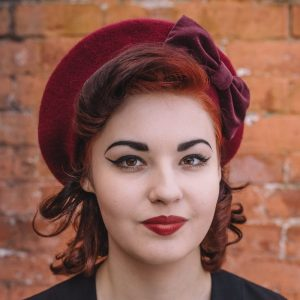 Autumn Winter Beret in Claret