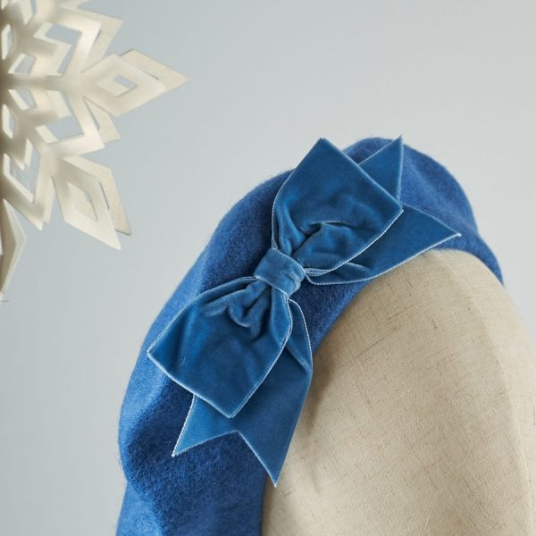 Blue French Beret with a Bow from Imogen's Imagination