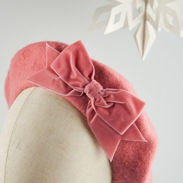 Pink French Beret with a Bow by Imogen's Imagination