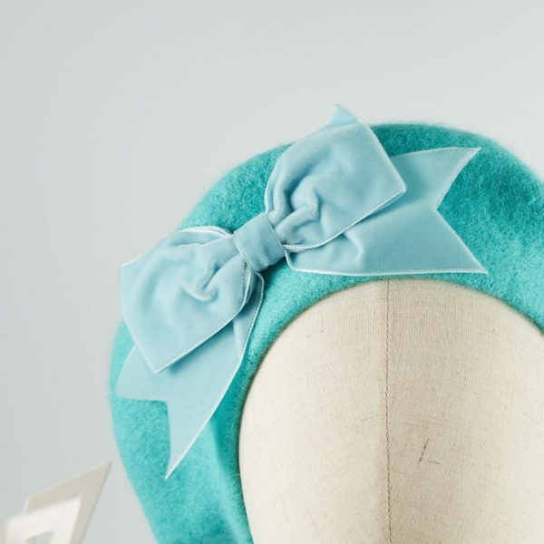 Blue French Beret with a Bow by Imogen's Imagination