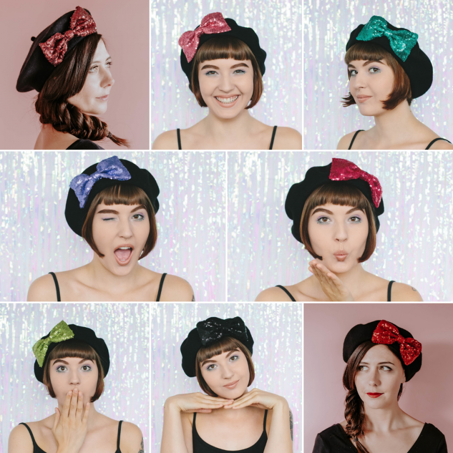 Boxing Day Sale Sequin Bow Berets