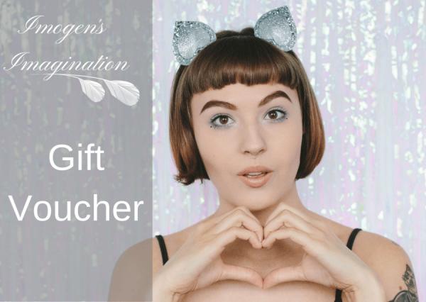 Glitter Cat Ears Headband - Hearts card design