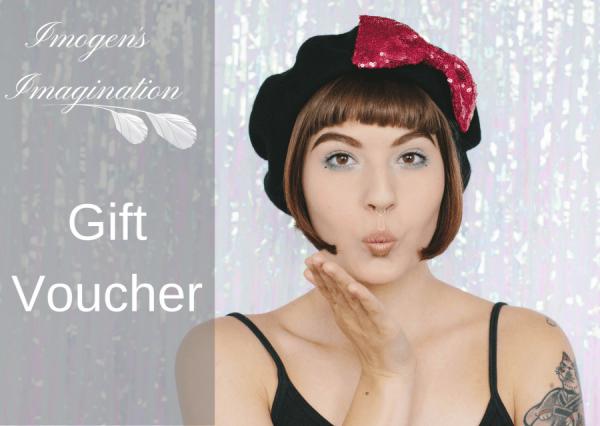Imogen's Imagination Kisses Gift Voucher Design