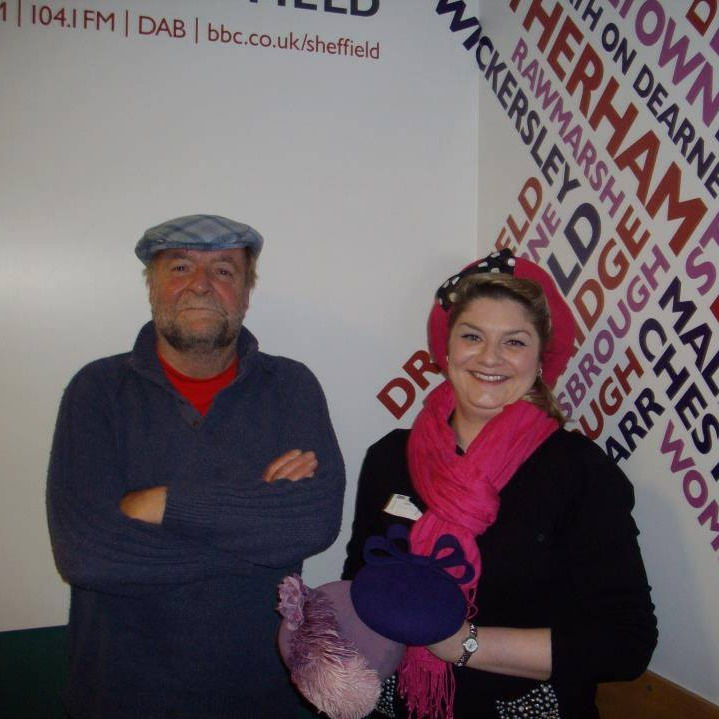 BBC Radio Sheffield Sophie with presenter Rony Robinson