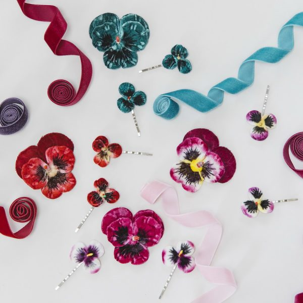 Velvet Flower Hair Accessories by Imogen's Imagination