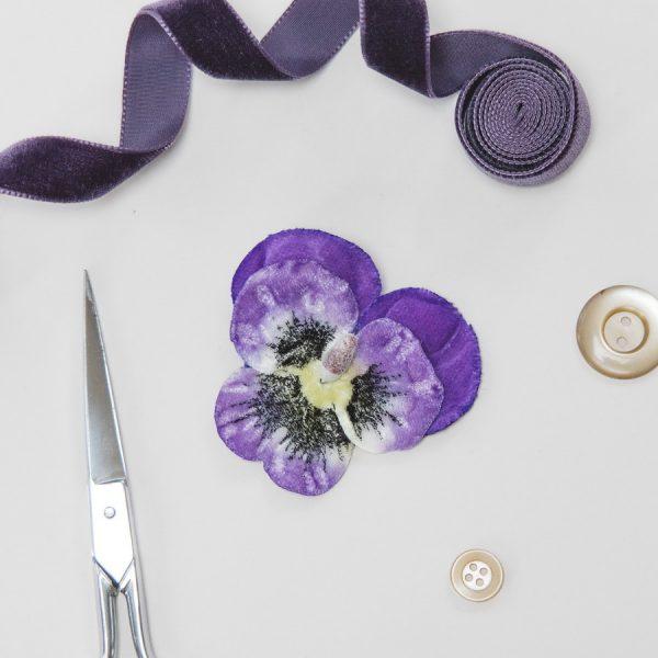 Purple Velvet Flower hair accessory for women and girls