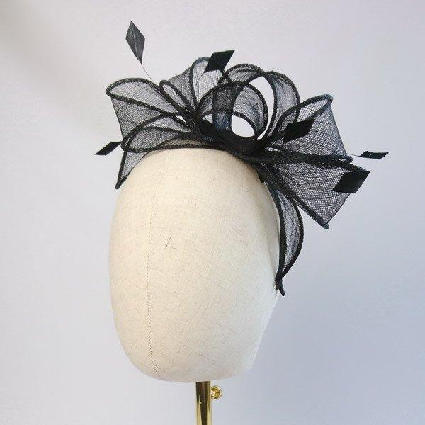 Black Fascinator for Wedding Guests